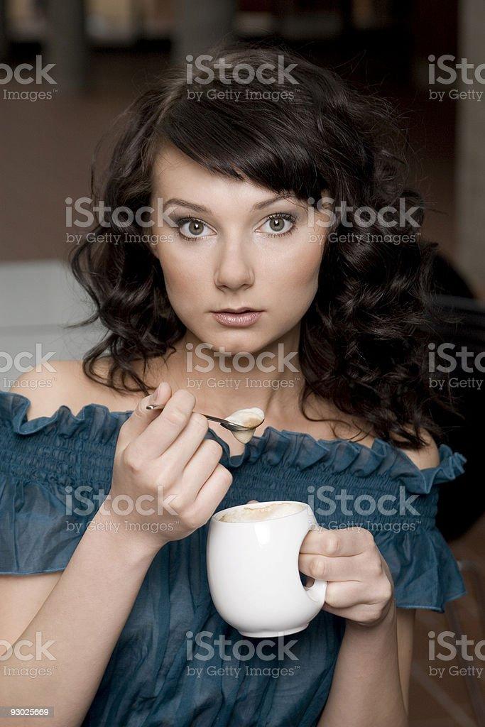 Addicted to coffee stock photo