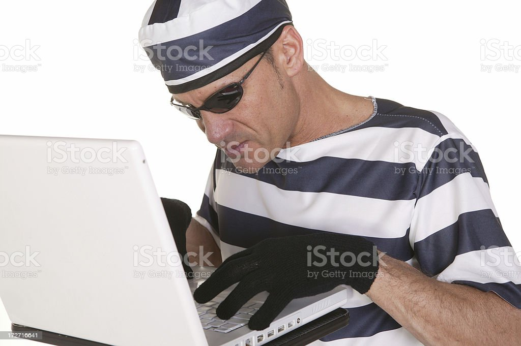 addicted to computer royalty-free stock photo