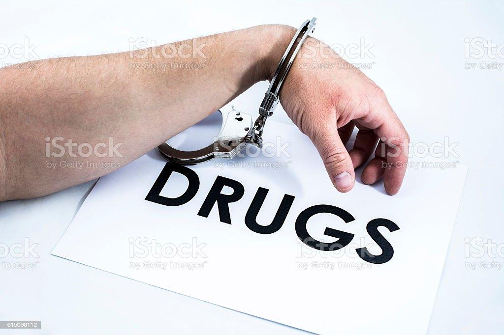 Addicted to drugs stock photo