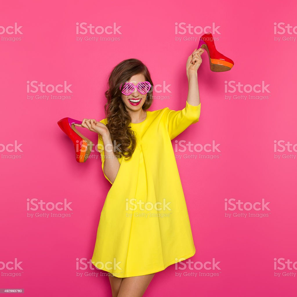Addicted to high-heeles shoes stock photo