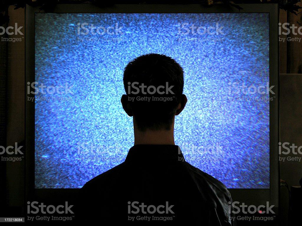 Addicted to tv stock photo