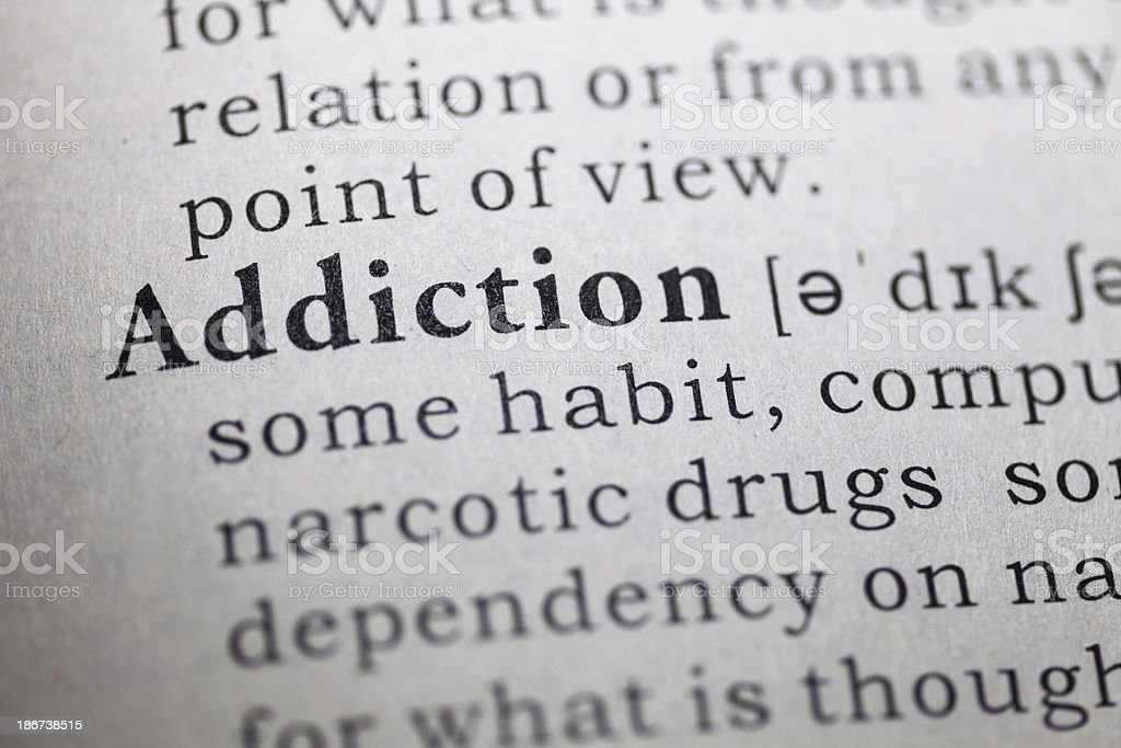 Addiction stock photo