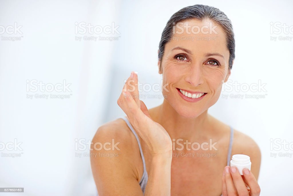 Adding a touch of moisture stock photo