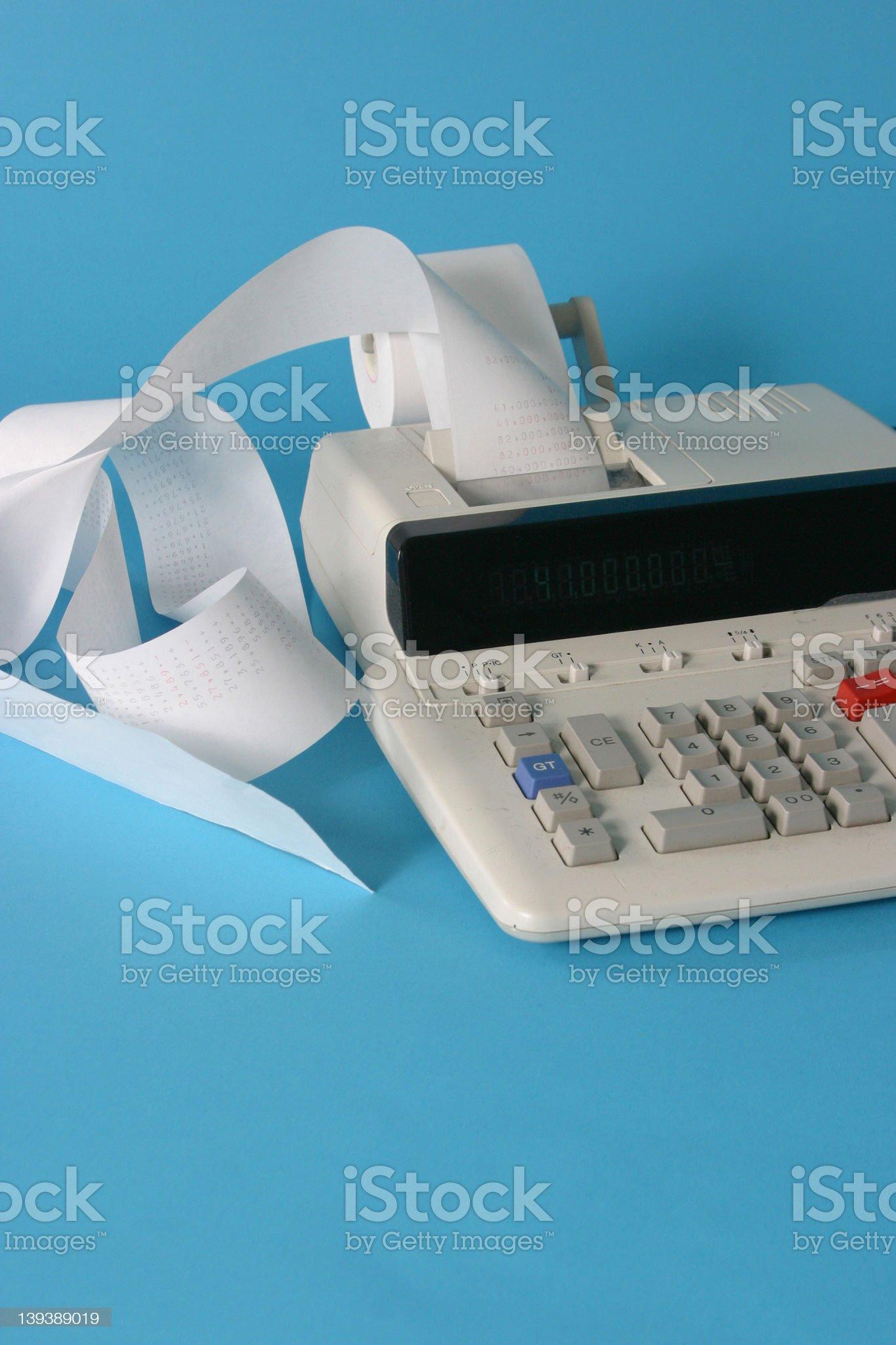 Adding Machine royalty-free stock photo