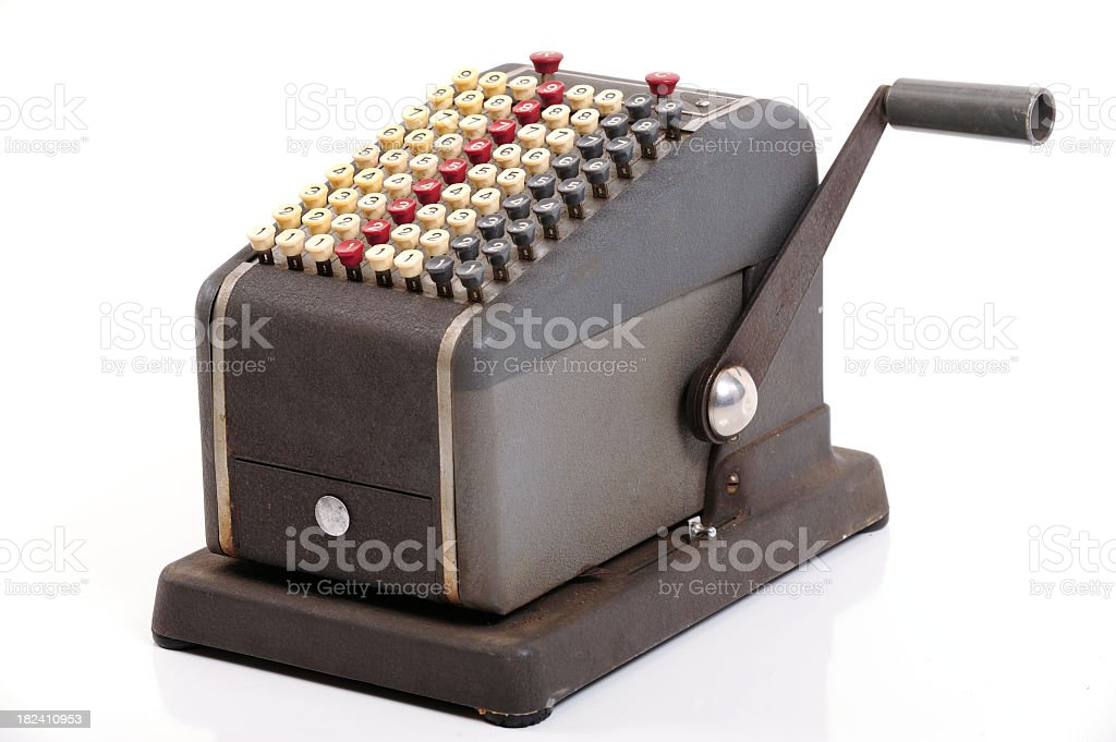 Adding Machine royalty-free stock photo