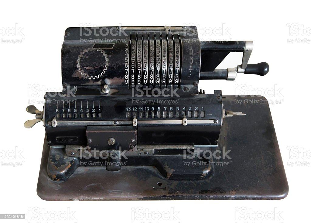 adding machine stock photo