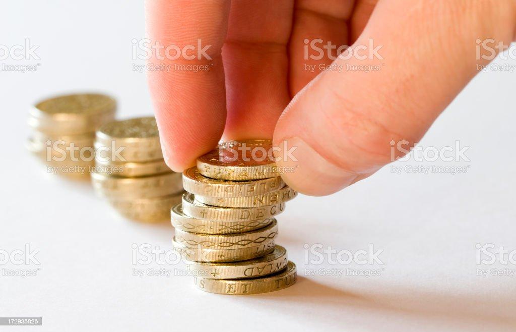 Adding or Removing Money stock photo