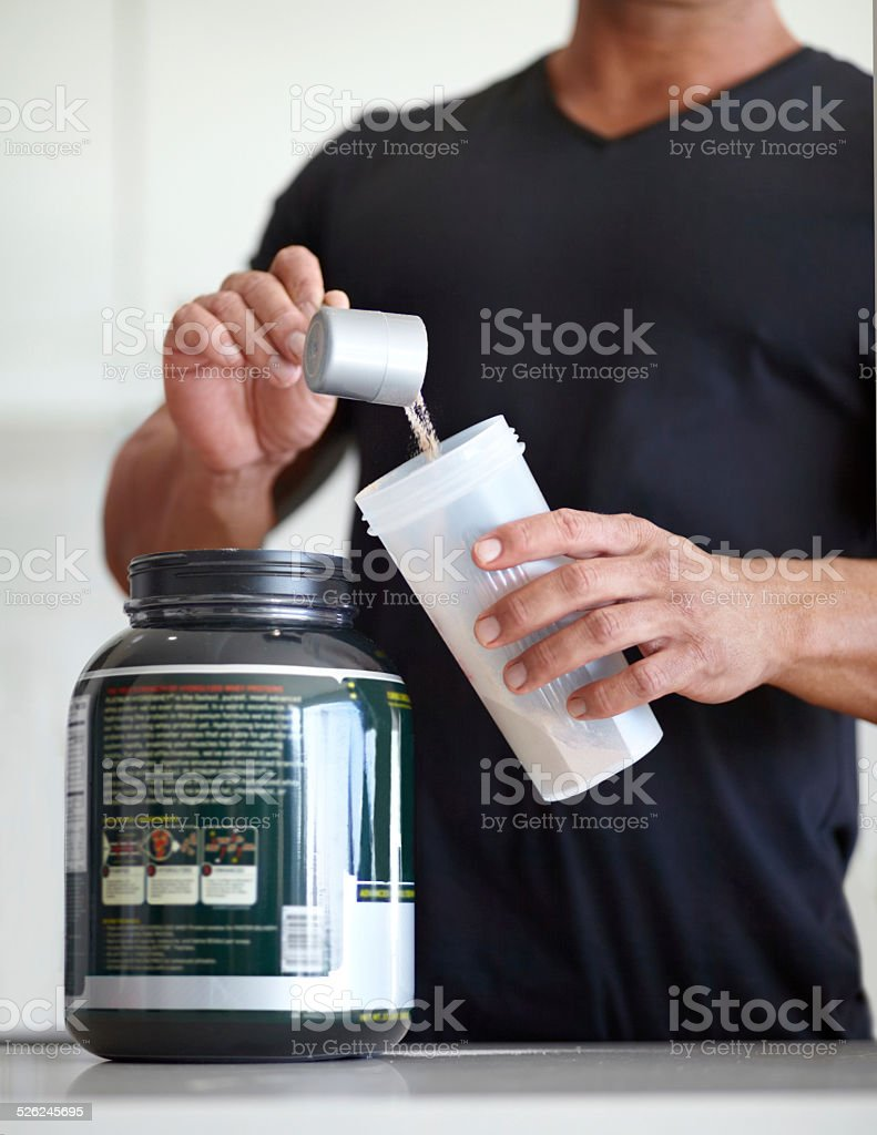 Adding some extra protein to his diet stock photo