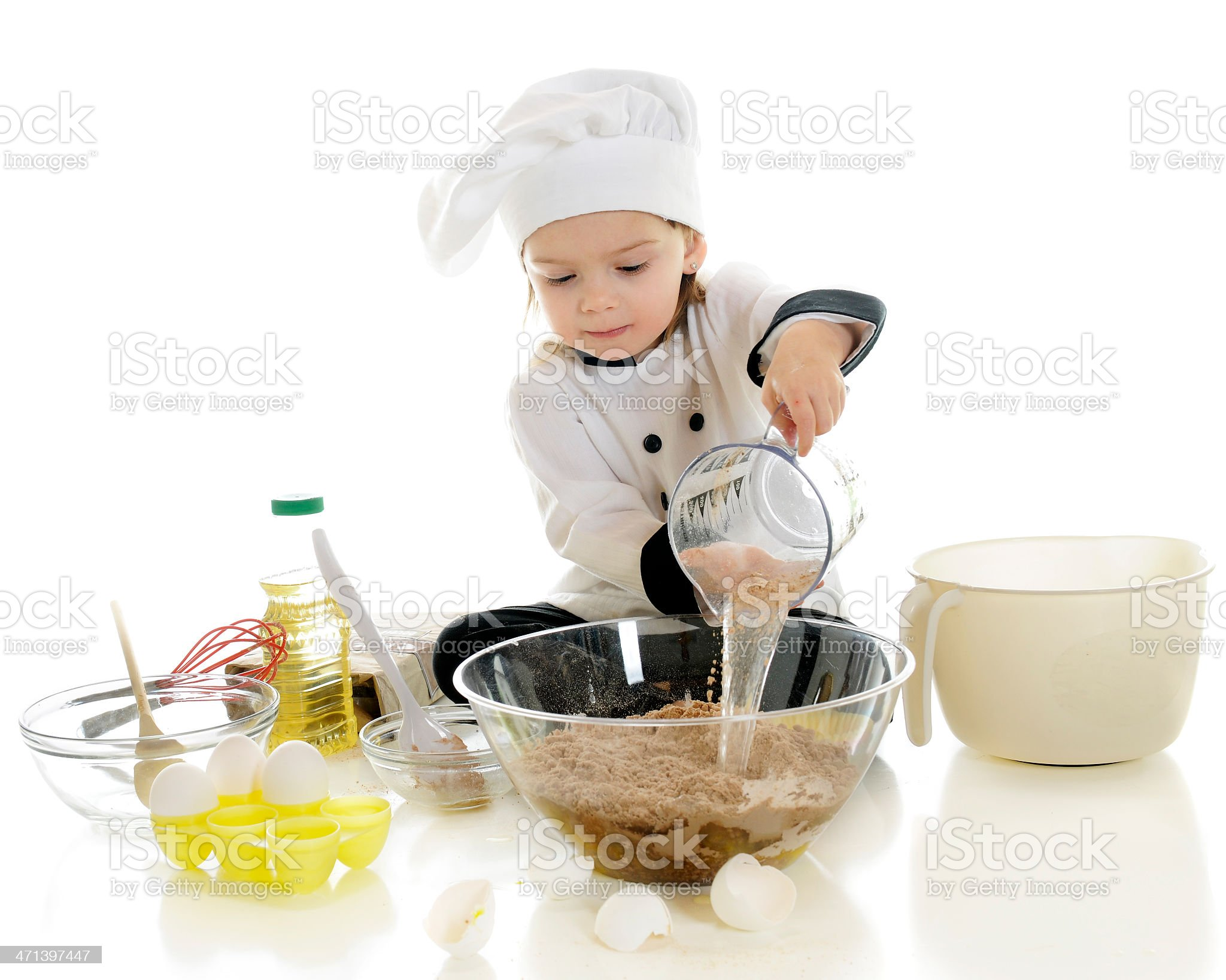 Adding Water to the Mix royalty-free stock photo