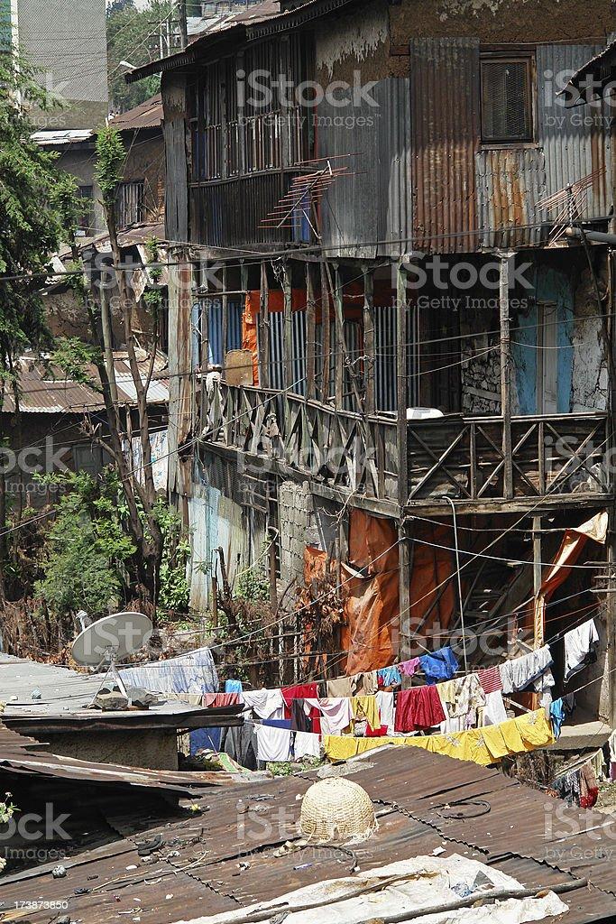 Addis Ababa Dwellings royalty-free stock photo