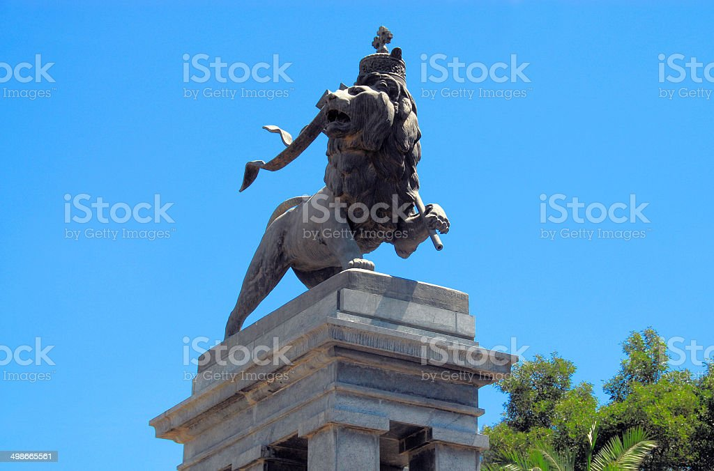 Addis Ababa, Ethiopia: Lion of Judah stock photo