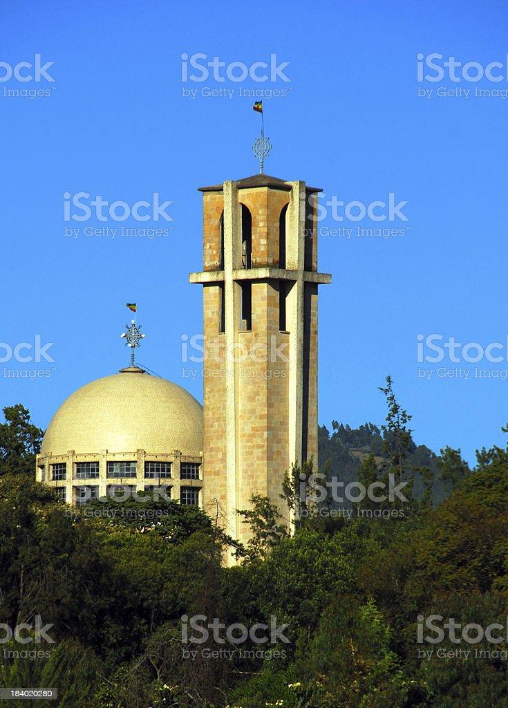 Addis Ababa, Ethiopia: St. Stephanos church royalty-free stock photo
