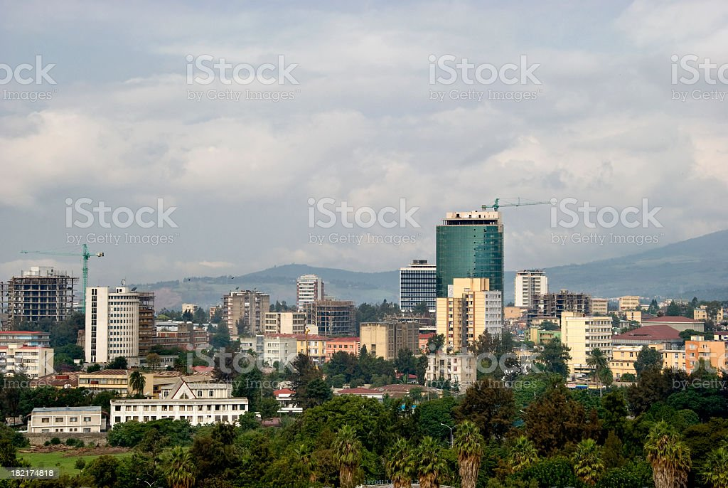 Addis Ababa Skyline stock photo