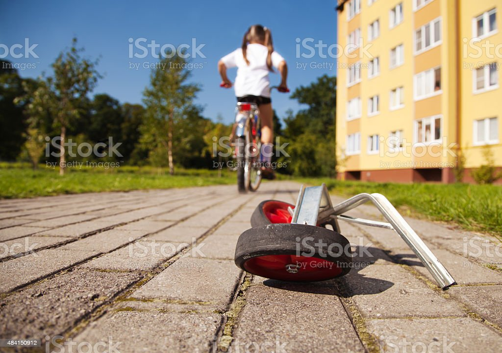 additional wheels to the bike stock photo
