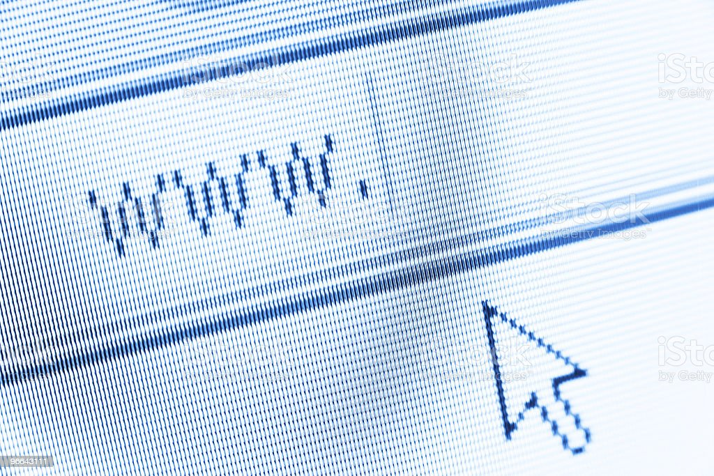 Address bar with cursor for the internet stock photo