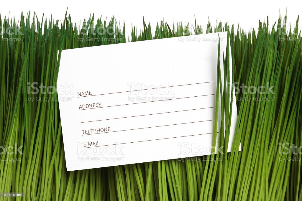 Address Book and green grass stock photo