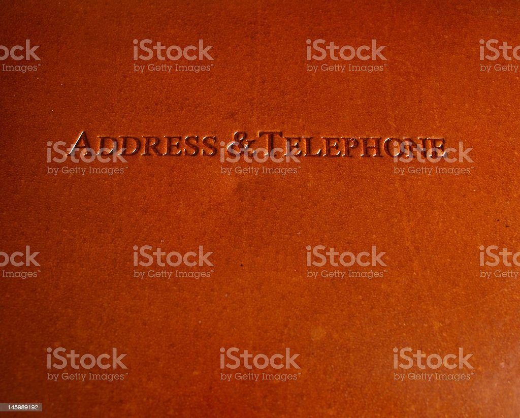 Address Book royalty-free stock photo