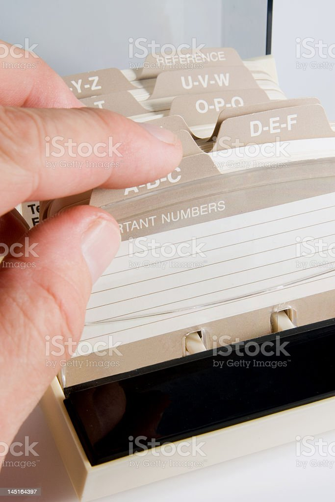 Address Card File royalty-free stock photo