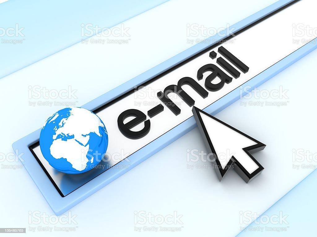 Address line, e-mail royalty-free stock photo