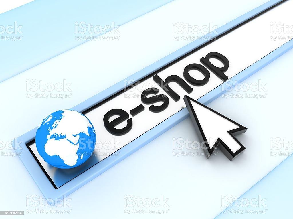 Address line, e-shop royalty-free stock photo
