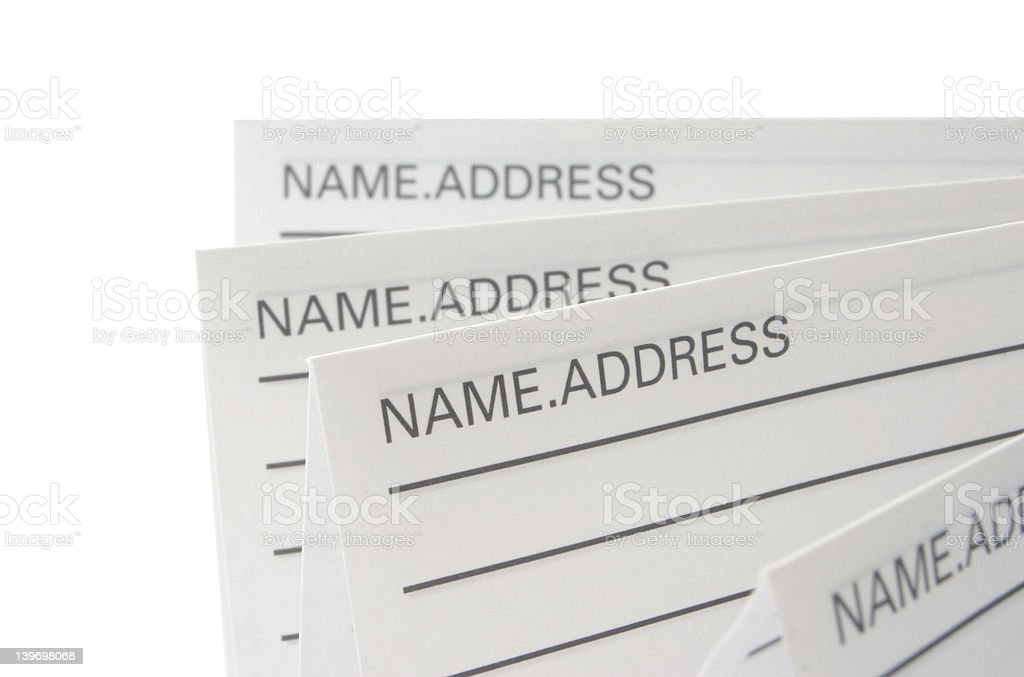 Address & Phone Book #8 - isolated royalty-free stock photo