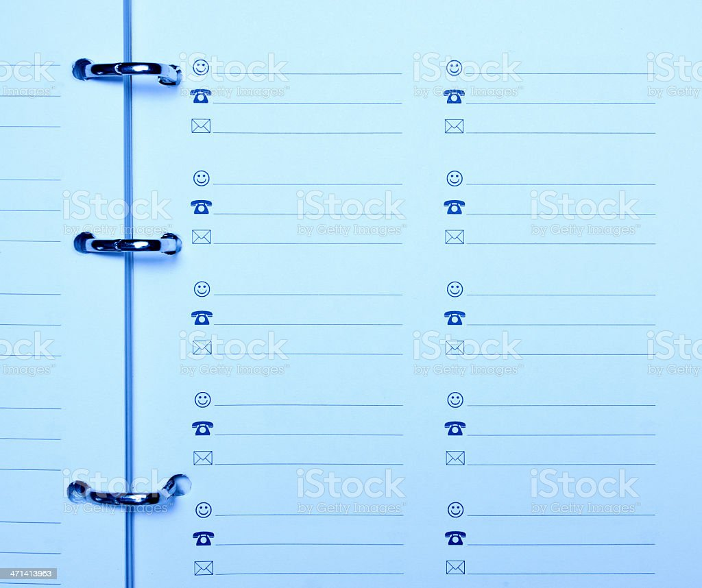 Address & Phone Book Page stock photo