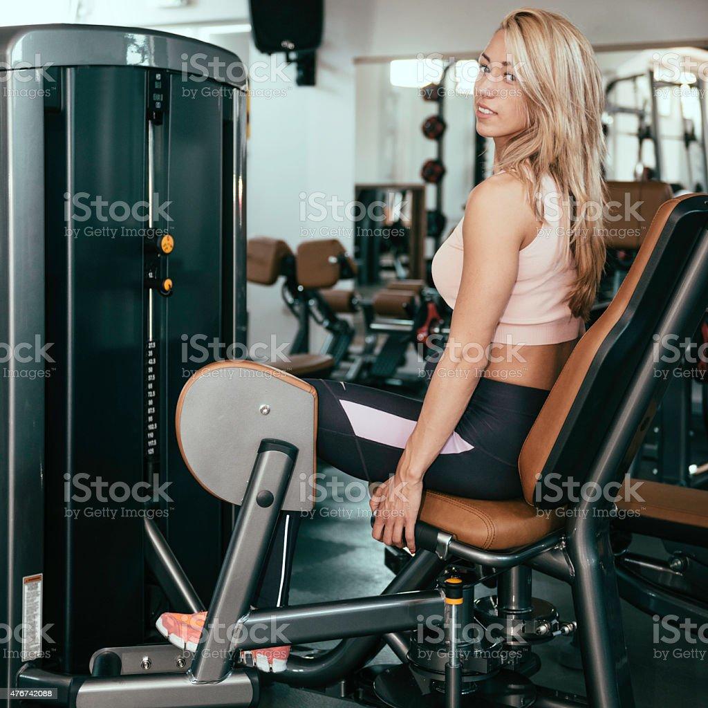 Adduction Machine Girl stock photo