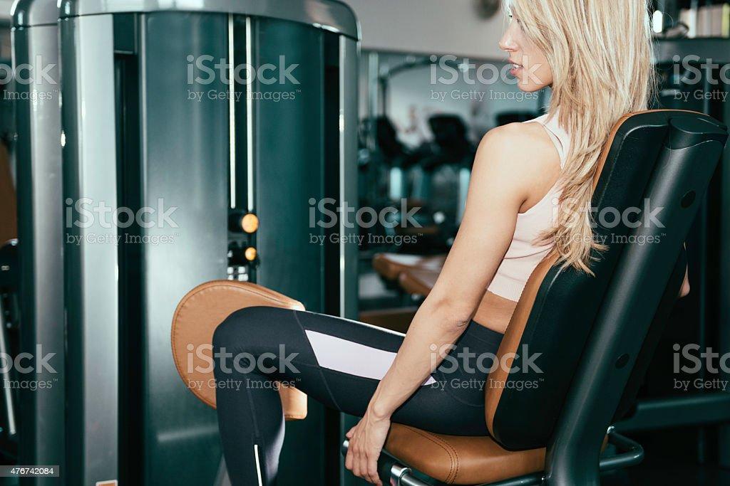 Adduction machine stock photo