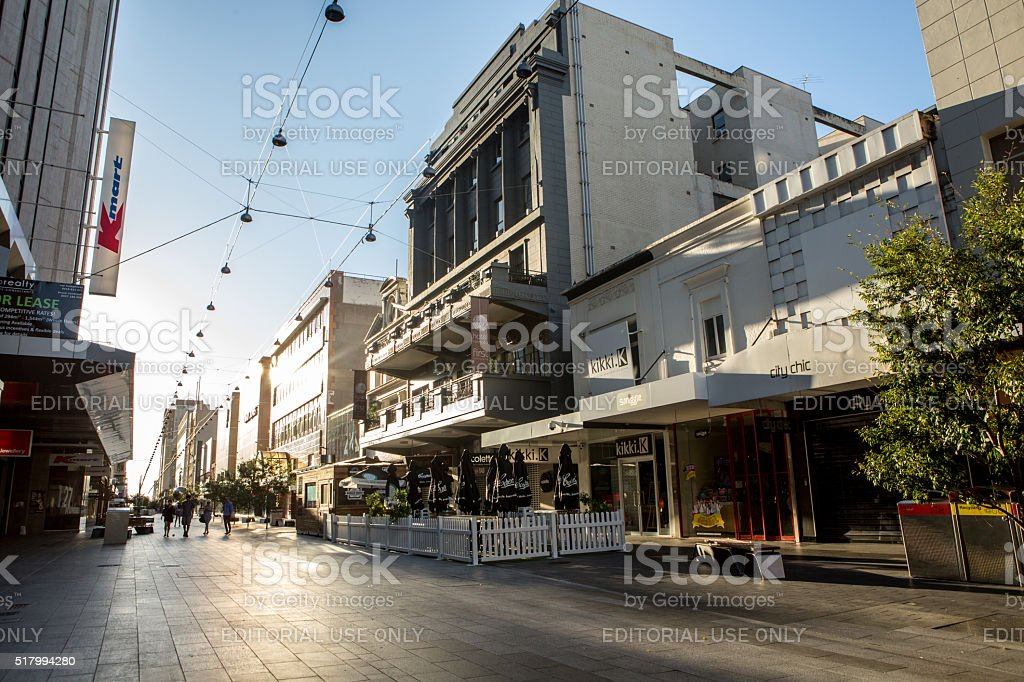 Adelaide city centre stock photo