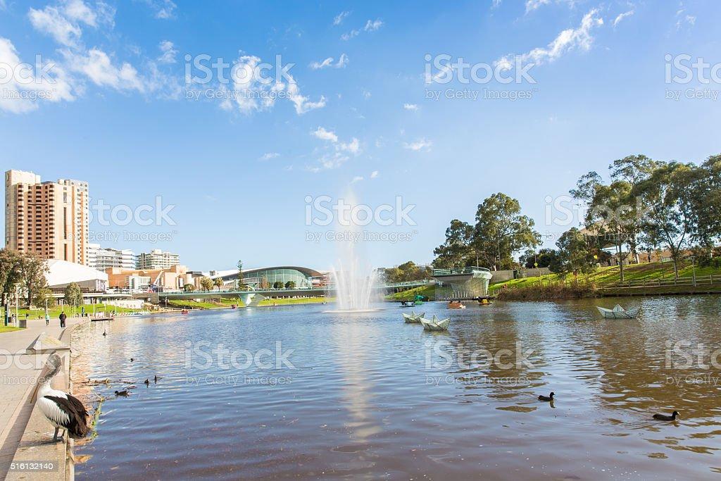 Adelaide city in Australia in daytime stock photo