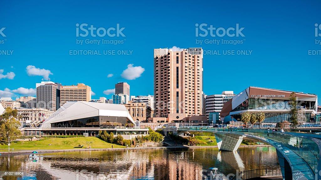 Adelaide city skyline stock photo