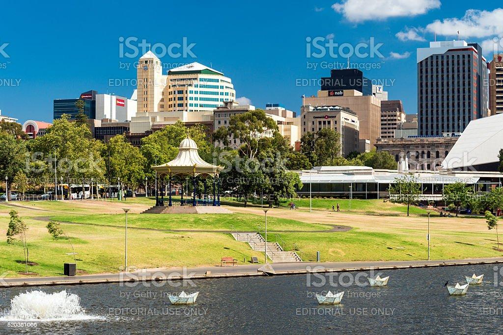 Adelaide city, South Australia stock photo