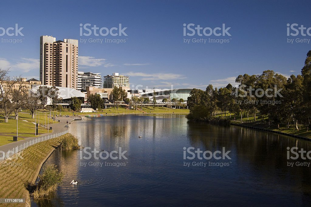 Adelaide Cityscape stock photo
