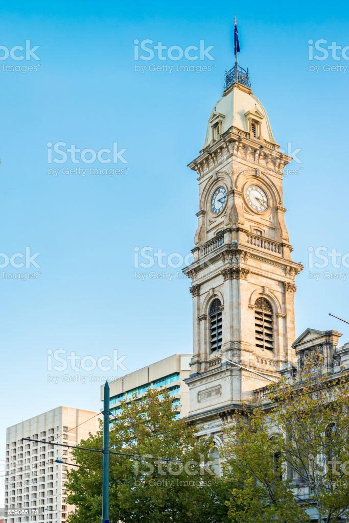 Adelaide GPO Post Shop with tower bell stock photo