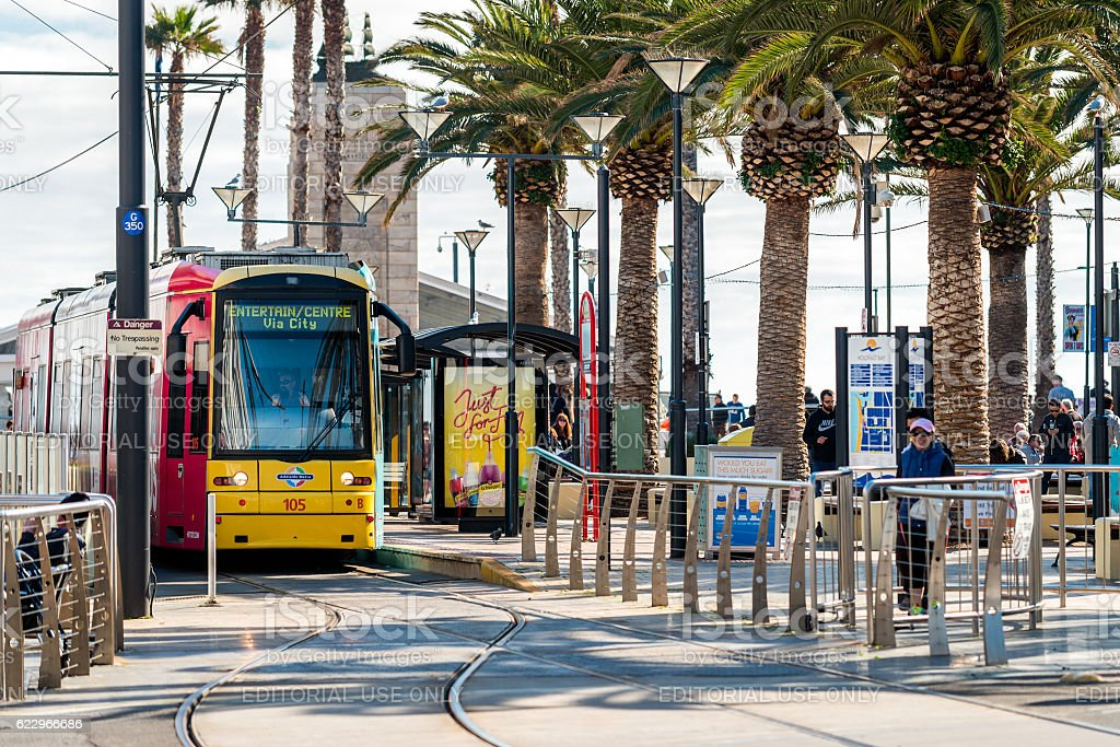 Adelaide Metro Tram stock photo