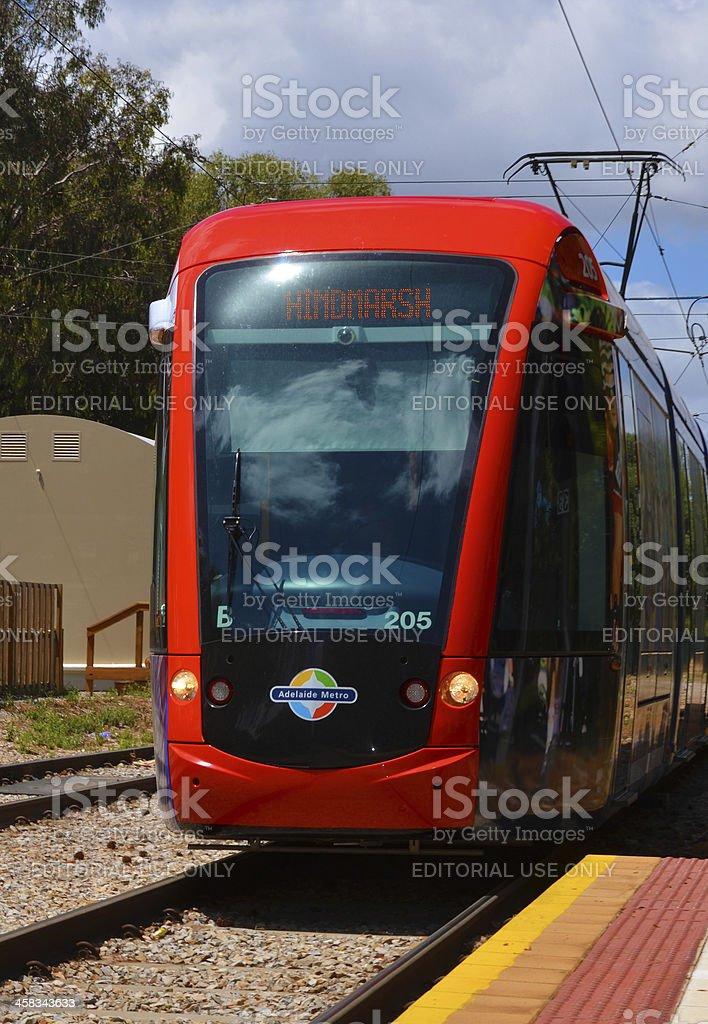 Adelaide to Glenelg public tram stock photo