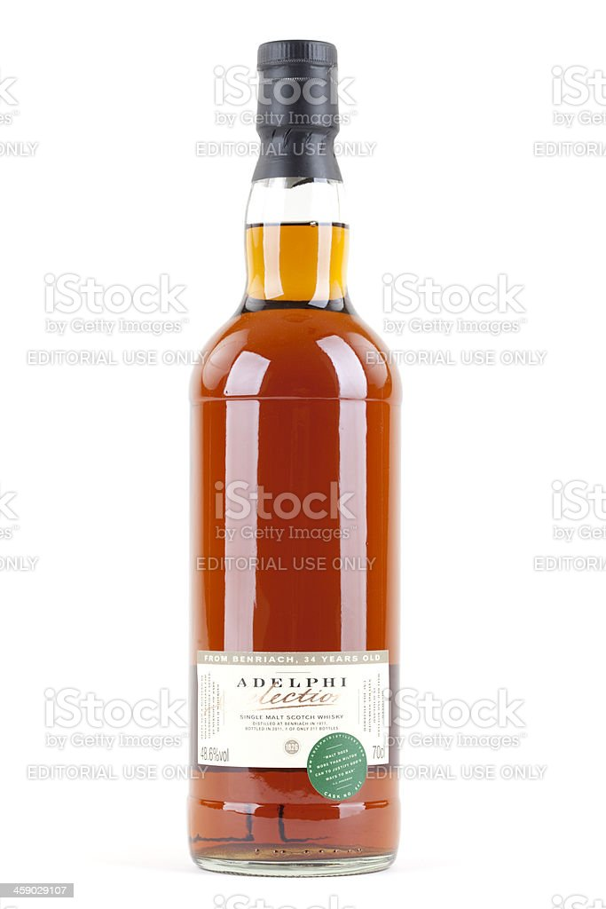 Adelphi Benriach 34 Year Old Scotch Whiskey stock photo