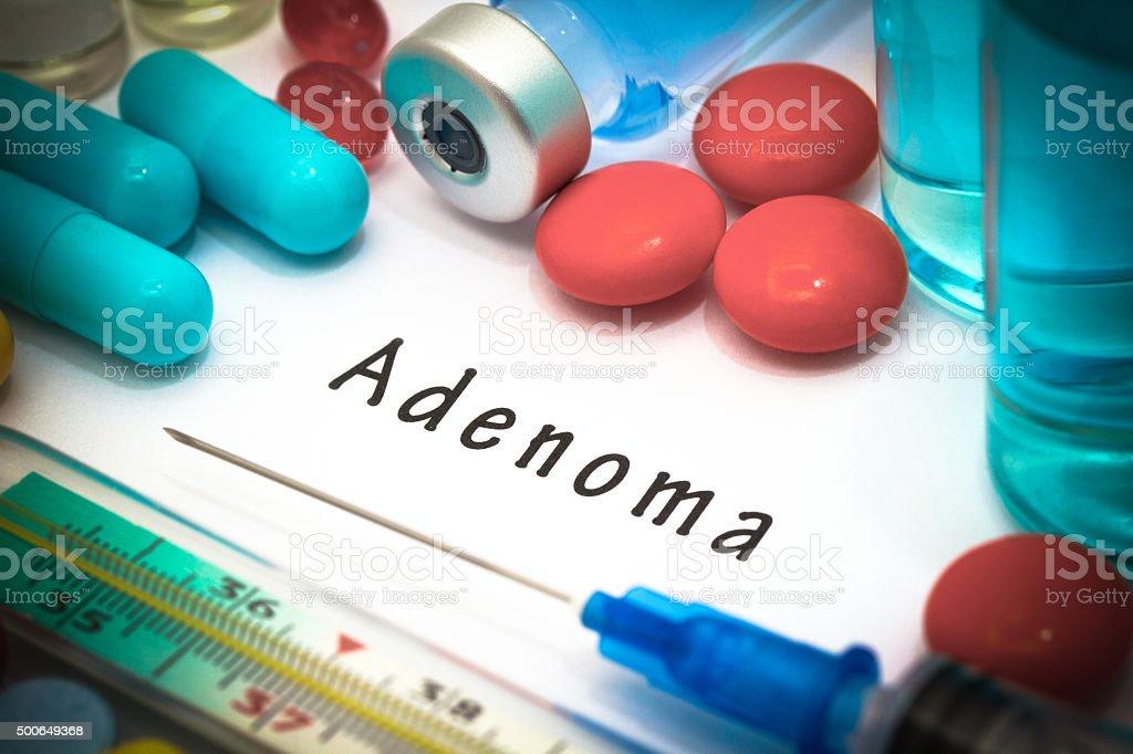 adenoma stock photo