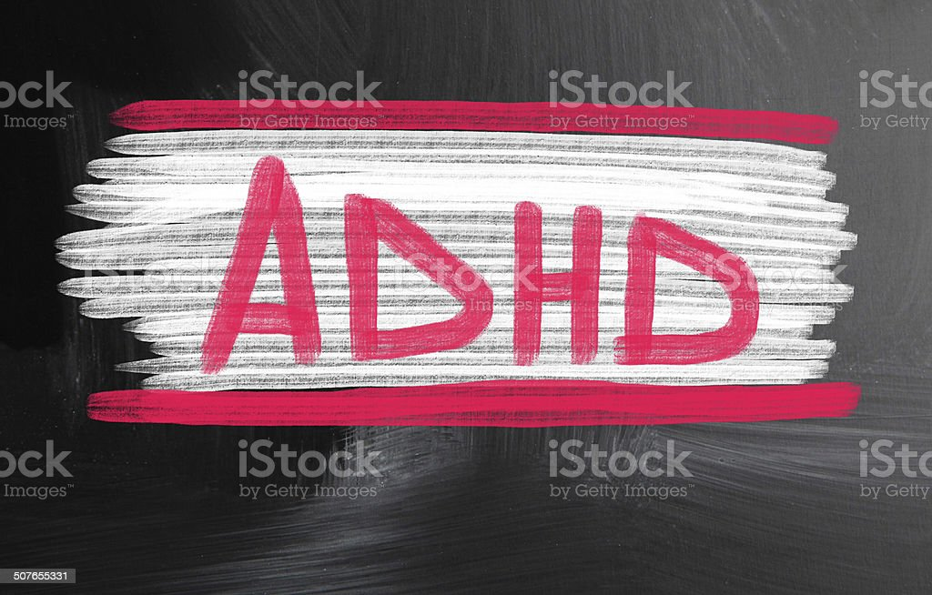 adhd concept stock photo