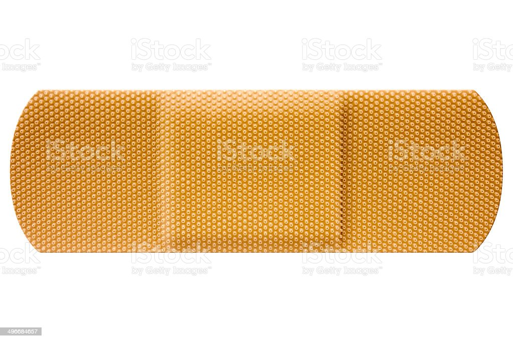 Adhesive Bandage With Clipping Path stock photo