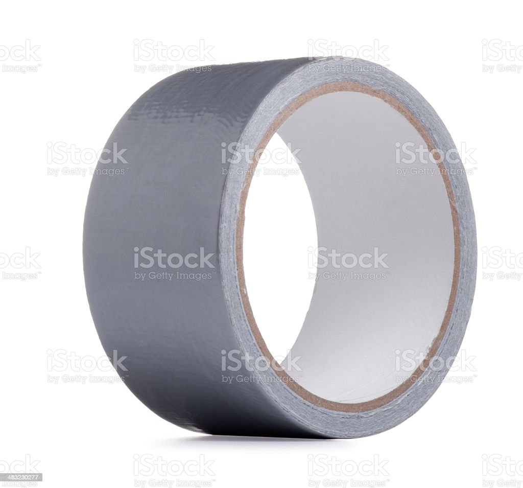 Adhesive Duct Tape Isolated on White stock photo