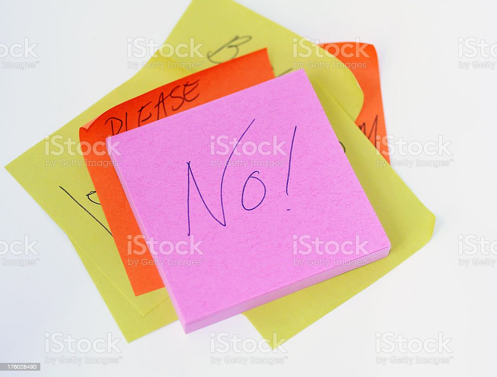 Adhesive Note Frustration royalty-free stock photo