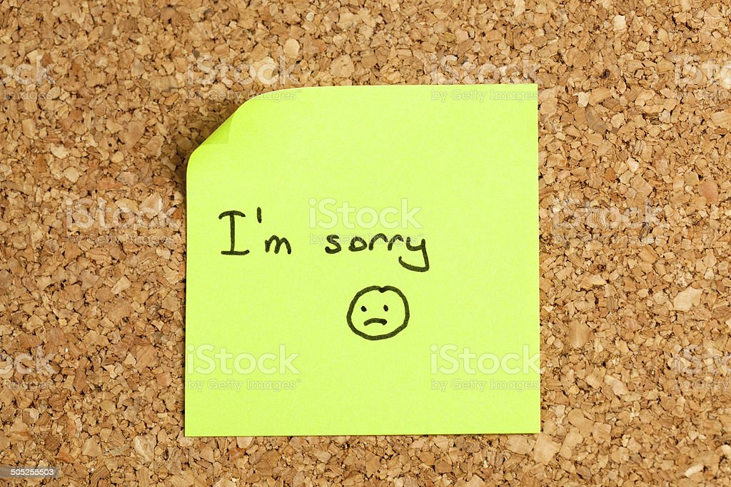 Adhesive note paper stock photo