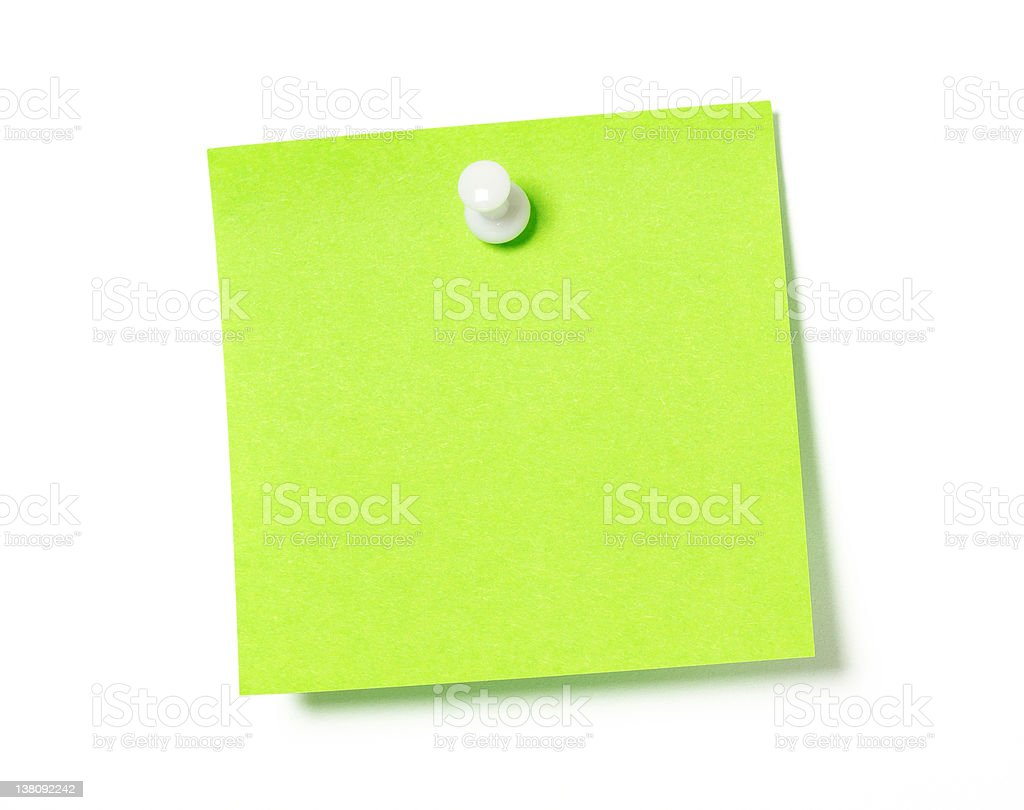 Adhesive note royalty-free stock photo
