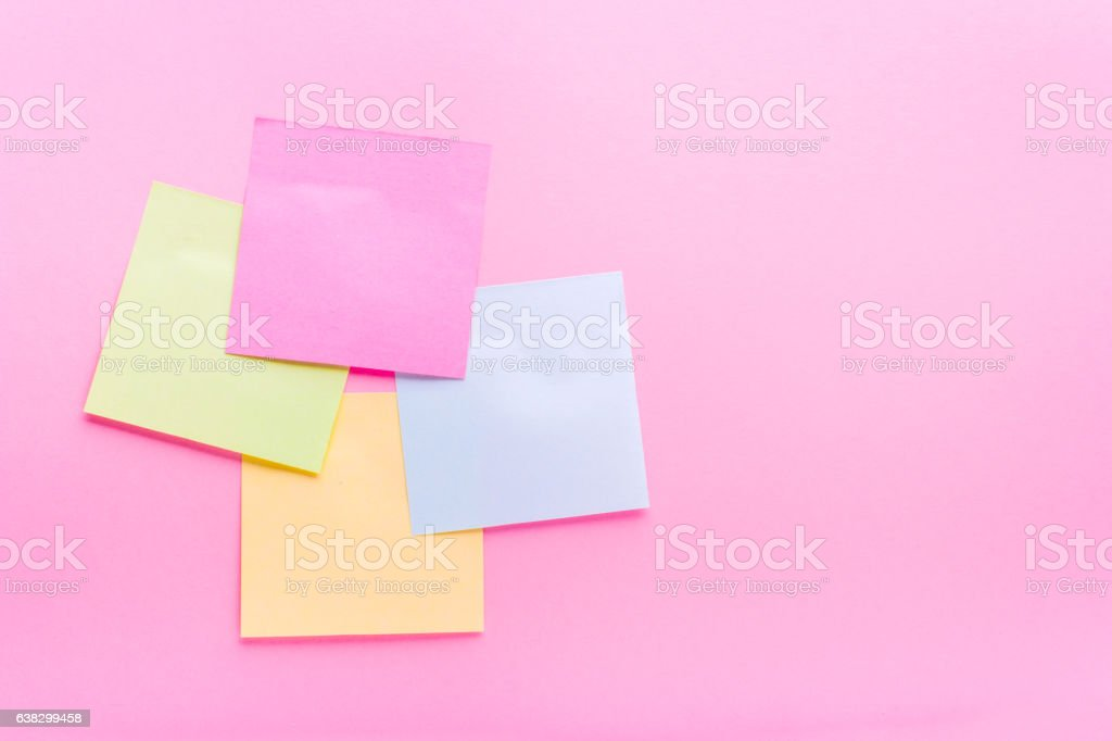 Adhesive note post color stock photo