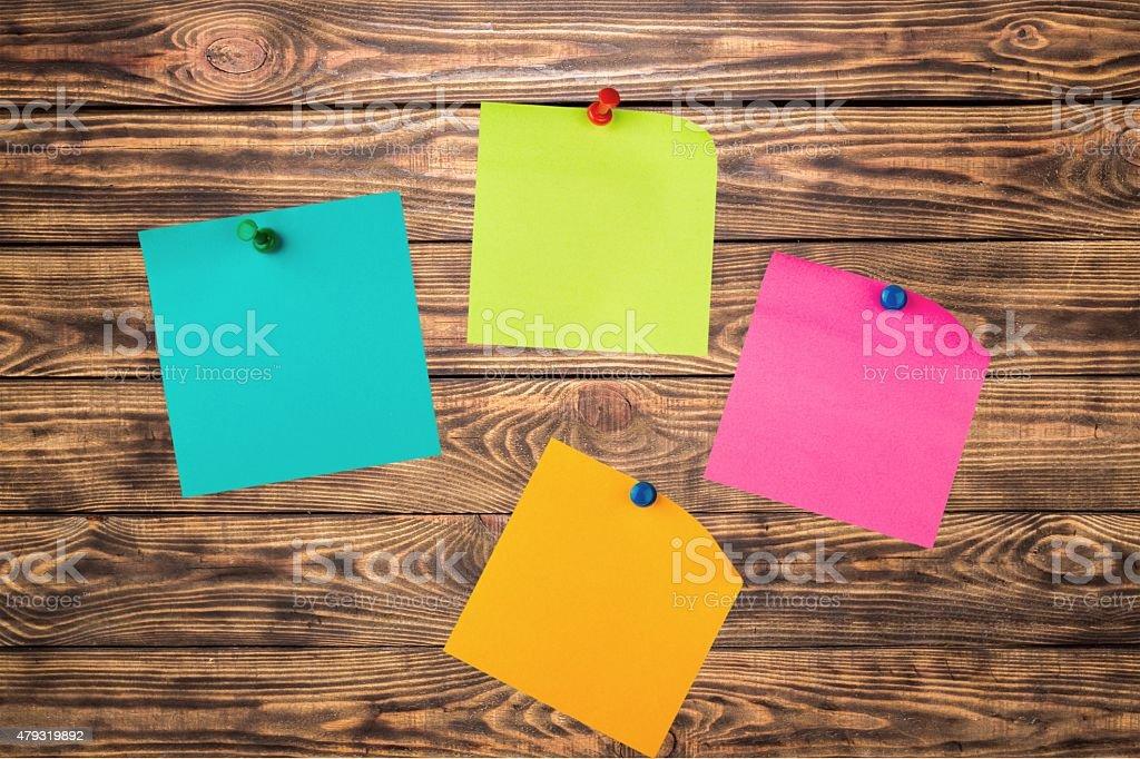 Adhesive Note, Thumbtack, Sticky stock photo