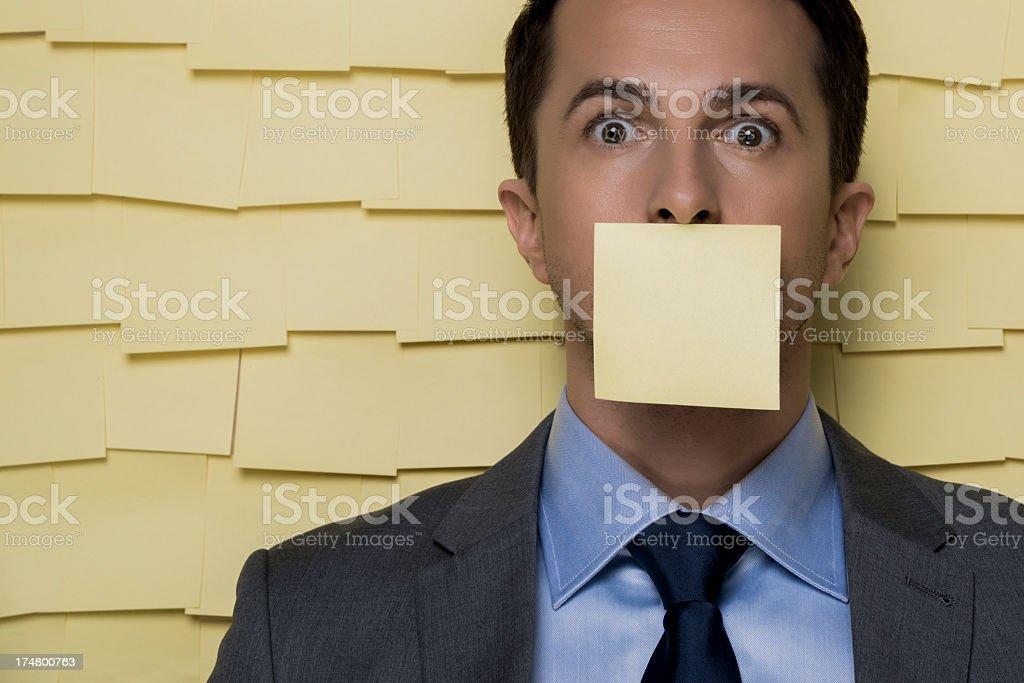 Adhesive notes stock photo