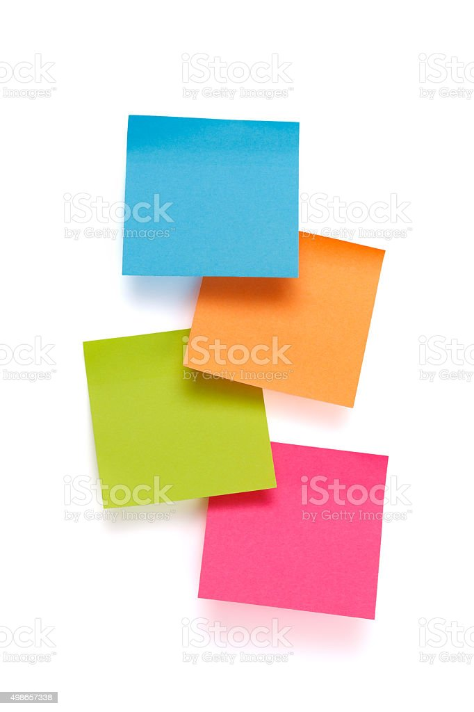 Adhesive Note's stock photo