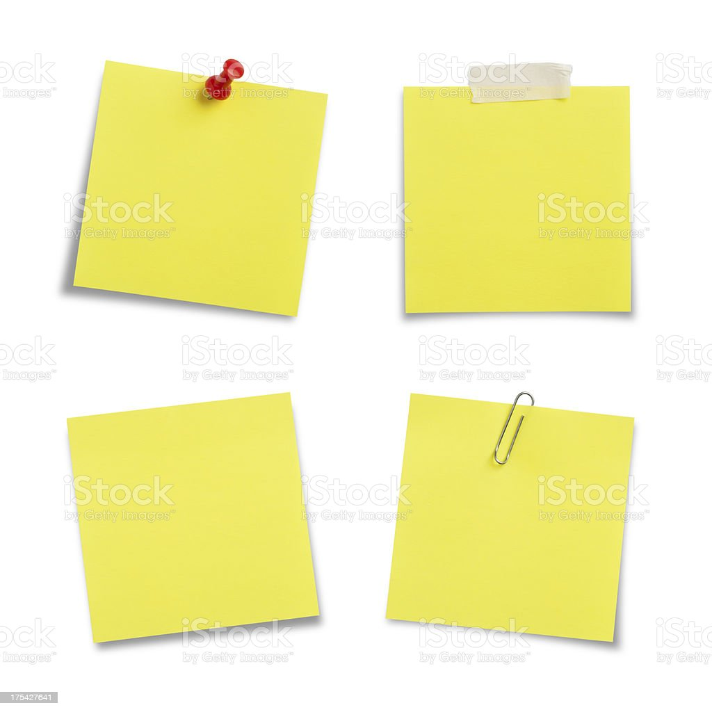 Adhesive Notes with Clipping Path stock photo