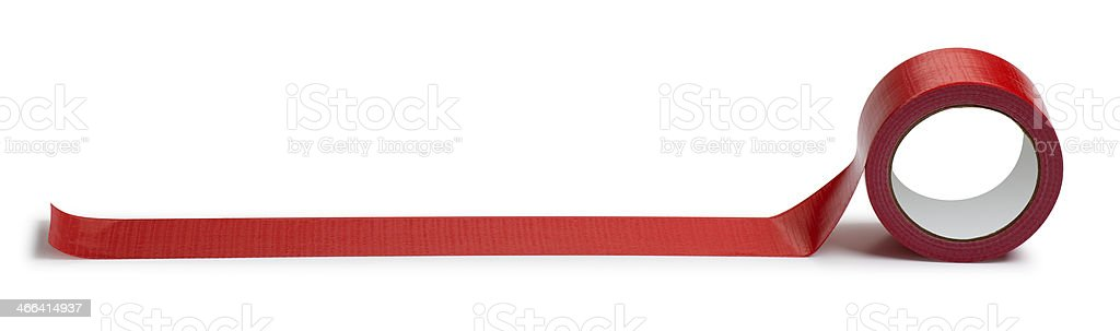 Adhesive Red Tape Isolated on White stock photo